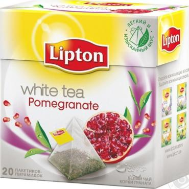 Чай Lipton White tea Pomegranate белый в пакетиках