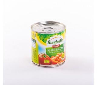 Фасоль BONDUELLE белая в томатном соусе 215гр