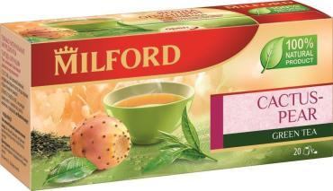 Чай Milford Ягода опунции зеленый в пакетиках