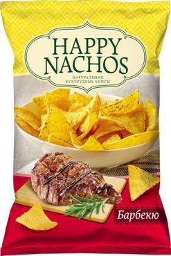 Чипсы Happy Nachos Кукурузные со вкусом барбекю