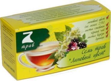 Чай Конфуций 7 трав Липовый цвет в пакетиках