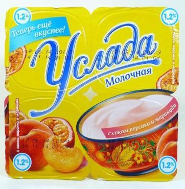 Йогурт Ehrmann Услада персик-маракуйя