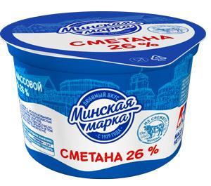 Сметана Минская марка 26%