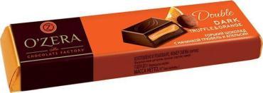 Батончик O`Zera Double Dark Truffle & Orange из горького шоколада с начинкой трюфель и апельсин