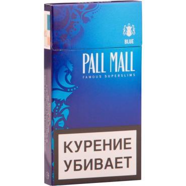 Сигареты с фильтром Pall Mall Super Slims Blue, 30 гр., картонная пачка