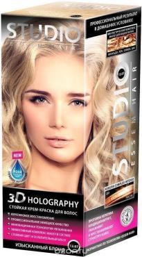 Крем-краска Studio для волос 3Д Голографи Изысканный блонд