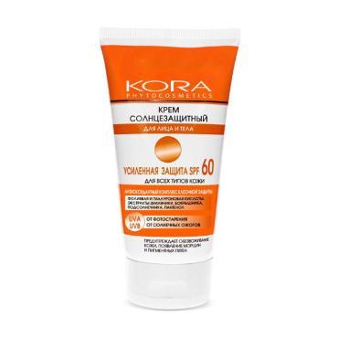 Крем Kora солнцезащитный для лица и тела усиленная защита SPF 50+