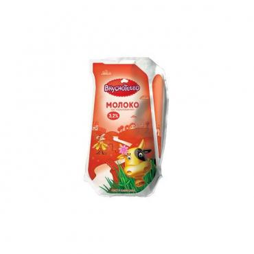 Молоко ультрапастизованное 3,2 %, Вкуснотеево, 930 гр., пакет