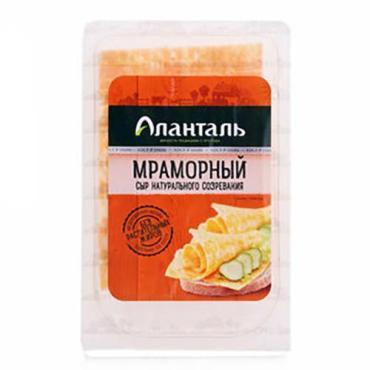 Сыр Аланталь Мраморный 45% нарезка