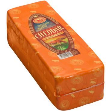 Сыр Чеддер красный 50% Староминский сыродел, 2 кг., пластиковый пакет
