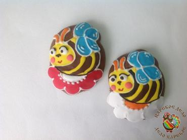 Пряник Царский пряник Пчелка на цветке 6-9 см.