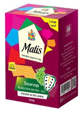 Чай черный Matis Soursop, 100 гр., картонная коробка