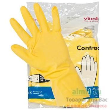 Перчатки Vileda резиновые Контракт XL желтые