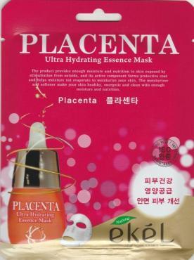 Тканевая маска для лица c экстрактом плаценты, Ekel, пластиковый пакет