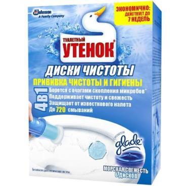 Диски чистоты Туалетный Утенок Морская свежесть
