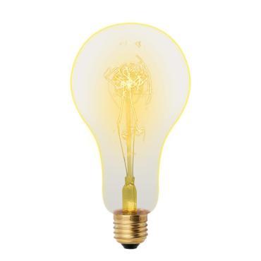 Лампа накаливания Vintage, форма A, форма нити SW, Uniel IL-V-A95-60/GOLDEN/E27 SW01, 220 гр., картонная коробка