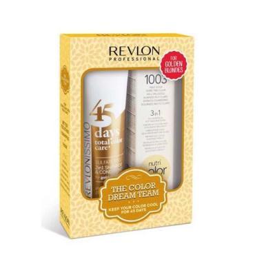 Набор для волос Revlon Professional теплый блонд (крем-краска 100 мл + шампунь-кондиционер 275 мл)