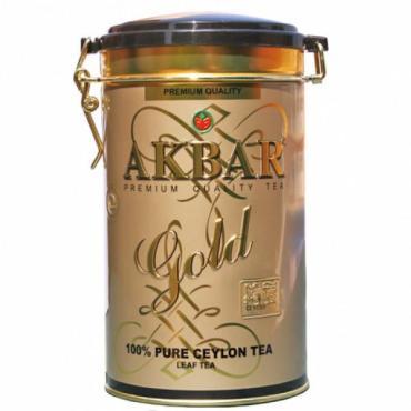 Чай листовой черный Akbar Gold, 450 гр., ж/б