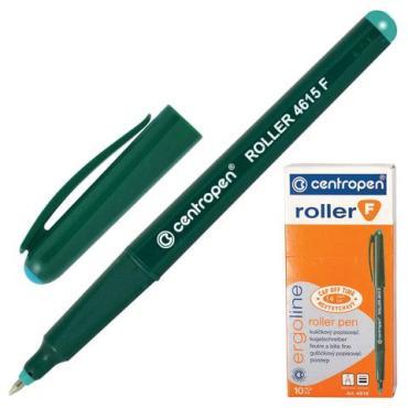 Ручка-роллер Centropen зеленая трехгранная корпус зеленый узел 0,5 мм, линия письма 0,3 мм