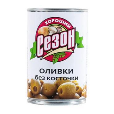 Оливки Хороший Сезон, 300 гр., жестяная банка