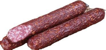 Колбаса сыро-копченая фермерская Брауншвейгская высший сорт, Сычниковское Подворье, 1 кг., оболочка Митлон