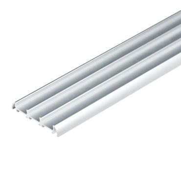 Накладной профиль для светодиодной ленты, анодированный алюминий, длина 200 см., UFE-A08 SILVER 200 POLYBAG, Uniel, 760 гр.