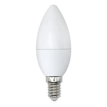Лампа светодиодная, форма свеча, матовая, теплый белый свет (3000K), LED-C37-8W/WW/E14/FR/O, Volpe Optima, 43 гр., картонная коробка