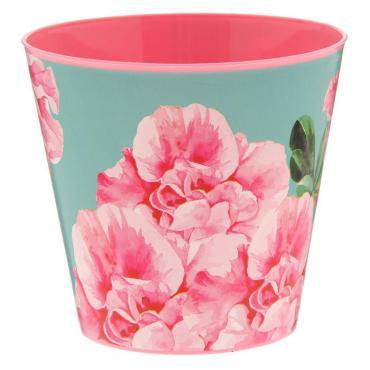 Кашпо для цветов Доляна Акварельные цветы 800 мл. пластик
