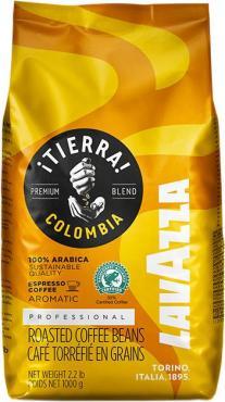 Кофе LavAzza Tierra Colombia 100% Arabica, 1 кг., фольгированный пакет