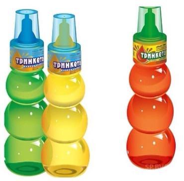 Жидкая конфета со вкусом персика Тринкета, 70 гр., пластиковая упаковка