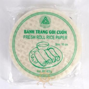 Бумага рисовая для фреш-роллов 16 см., DUY ANH, 400 гр., пластиковый пакет