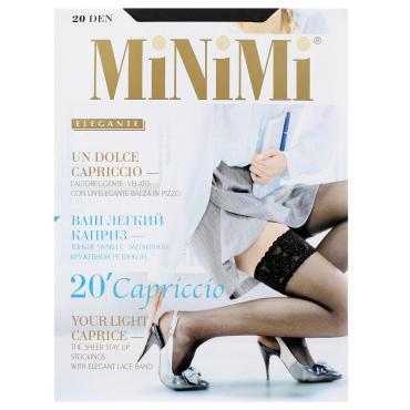 Чулки MiNiMi Capriccio 20 Den 3/4 L/XL nero