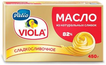 Сливочное масло Valio Viola, сладкосливочное 82%