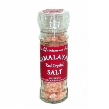 Соль пищевая красная мельничка Himalayan Salt Гималайская, 120 гр., стекло