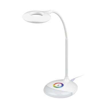 Светильник настольный с ночником RGB, 4W, встроенный аккумулятор 1800 mAh, сенсорный выключатель, TLD-535 White/LED/250Lm/5500K/Dimmer Uniel, 600 гр.