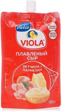 Сыр плавленый 45% Valio Viola Ветчина и Пармезан, 180 гр., дой-пак с дозатором