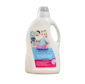 Гель эко для стирки всех видов тканей Organic People, 1,5 л., Пластиковая бутылка