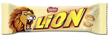 Батончик Nestle Lion White в белом шоколаде