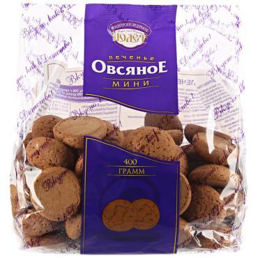Печенье Овсяное мини, Полёт, 400 гр., флоу-пак, 15 шт.