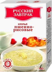 Хлопья пшенно-рисовые Русский Завтрак, 400 гр., картонная коробка