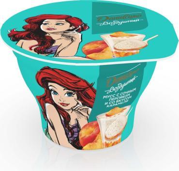 Мусс Даниссимо Сочный персик с карамелью йогуртный двухслойный 5,6%