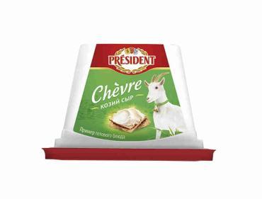 Сыр President Chevre творожный из козьего молока 65%