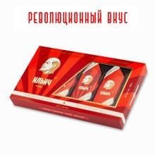 Конфеты шоколадные трюфели Ильич пенал, Джи Си-Золотые конфеты, 125 гр., картон