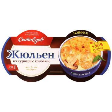 Жульен Сытоедов из курицы с грибами, 270 гр., пластиковый контейнер