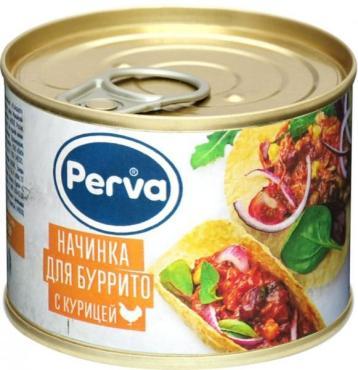 Начинка для буррито Курганский МК  куриная Perva, 180 гр., ж/б
