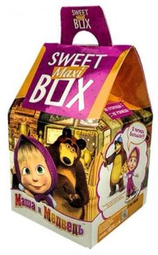 Зефир Конфитрейд Sweet Box Маша и Медведь с игрушкой