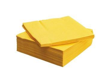 Салфетки бумажные Маль Дива Classic 24х24см 1 слой 100шт. желтые
