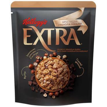 Хрустящая Гранола-Мюсли Kellogg's Extra с темным шоколадом и фундуком