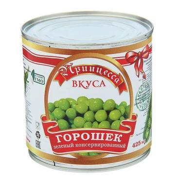 Овощные консервы Принцесса вкуса горошек зеленый