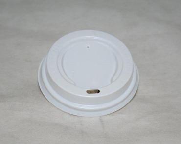 Крышка для стаканов, для холодного и горячего d=73 мм., белая, ПС 100 шт/уп., 1600 шт/кор., Паперскоп рус, пластиковый пакет
